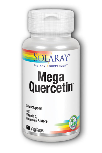 A bottle of Solaray Mega Quercetin