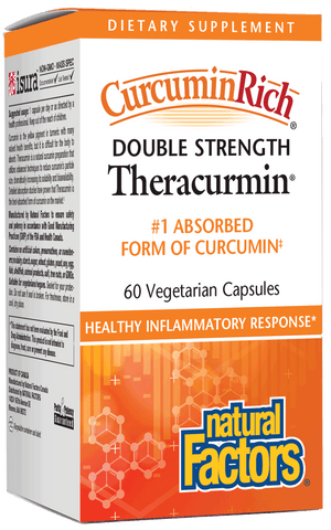 A package of Natural Factors CurcuminRich® Theracurmin® Double Strength