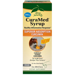 A package of Terry Naturally CuraMed® Syrup