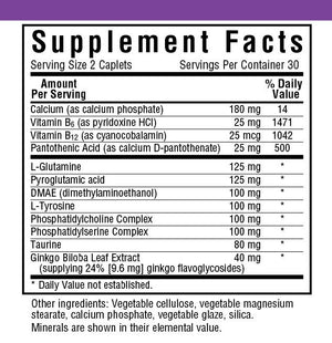 Supplement Facts for Bluebonnet Power Thought®