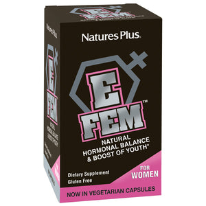 A package of Nature's Plus E Fem Capsule