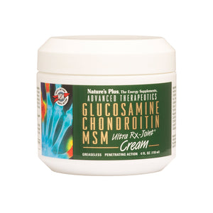 A jar of Nature's Plus Glucosamine/Chondroitin/MSM Ultra Rx-Joint® Cream Jar 4 Fl Oz.