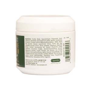 Side of jar with additional information for Nature's Plus Glucosamine/Chondroitin/MSM Ultra Rx-Joint® Cream Jar 4 Fl Oz.