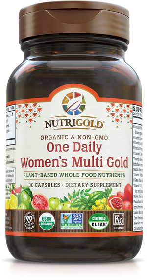 A bottle of NutriGold One Daily Women's Multi Gold