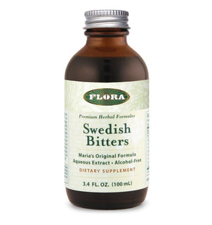 A bottle of Flora Swedish Bitters (Alcohol-Free) 8.5 oz
