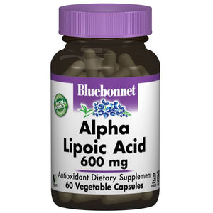A bottle of Bluebonnet Alpha Lipoic Acid 600 mg