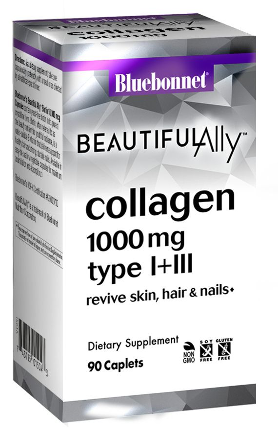 A package for Bluebonnet BEAUTIFUL ALLY® COLLAGEN 1000 MG CAPLETS