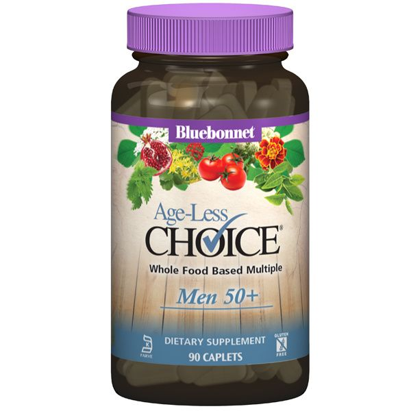 A bottle of pills for Bluebonnet Age-Less Choice® for Men 50+