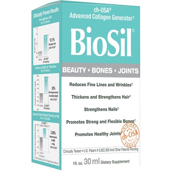 A package of Natural Factors BioSil® Beauty, Bones, Joints 1 oz Unflavored