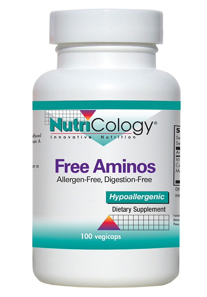 A bottle of NutriCology Free Aminos
