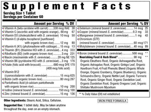 Supplement Facts for Megafood Men's One Daily