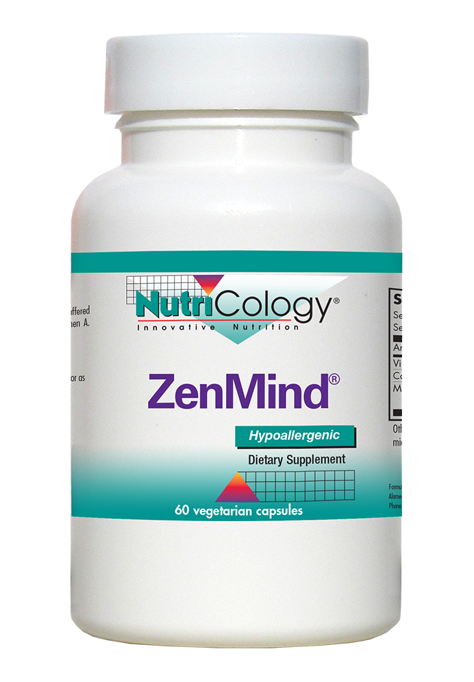 A bottle of NutriCology ZenMind®