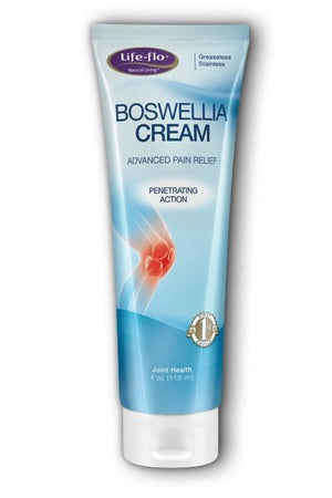 A tube of Life-flo Boswellia Cream