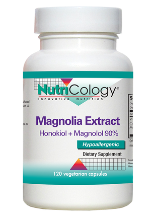 A bottle of NutriCology Magnolia Extract