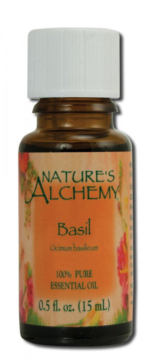 Essential Oil Basil .5 oz - Nature's Alchemy