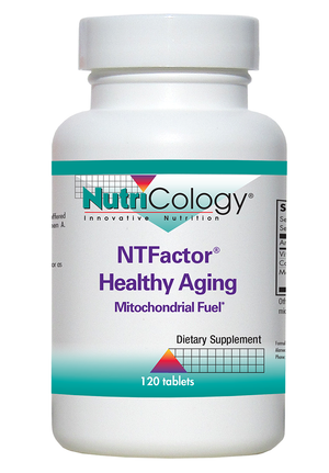 A bottle of NutriCology NTFactor® Healthy Aging