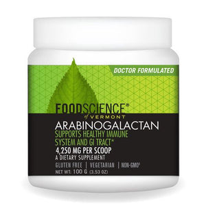 A jar of Foodscience of Vermont Arabinogalactan