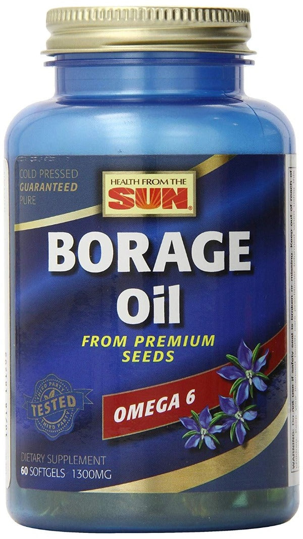 A bottle of Health from the Sun Borage Oil