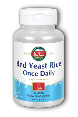 A bottle of KAL Red Yeast Rice Once Daily