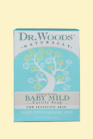 A package for Dr. Woods Bar Soap Baby Mild