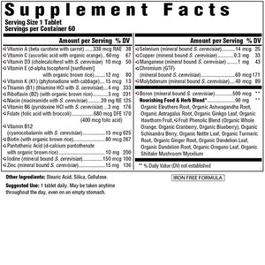 Supplement Facts for Megafood Men Over 40™ One Daily