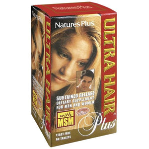 a package of Nature's Plus Ultra Hair® Plus Sustained Release Tablets