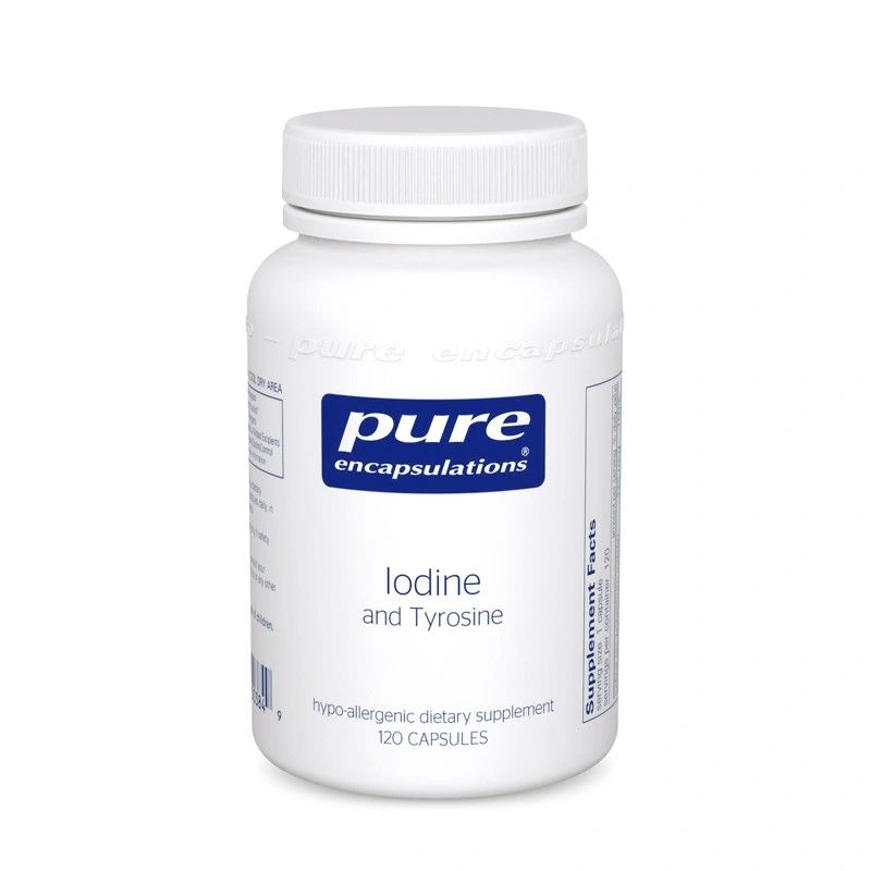 A bottle of Pure Iodine and Tyrosine