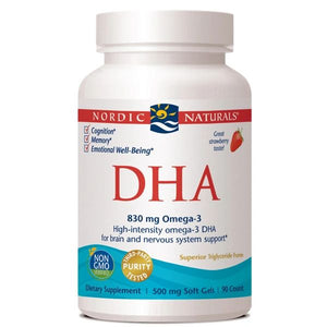 A bottle of Nordic Naturals DHA