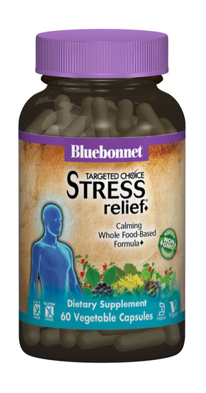 A bottle of Bluebonnet Targeted Choice® Stress Relief
