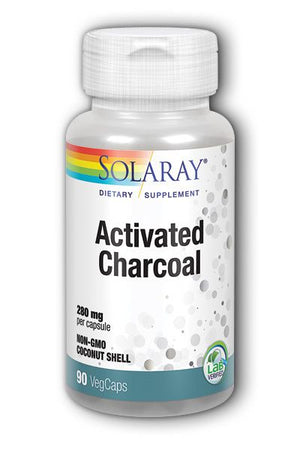 A white pill bottle with a label that reads Activate Charcoal