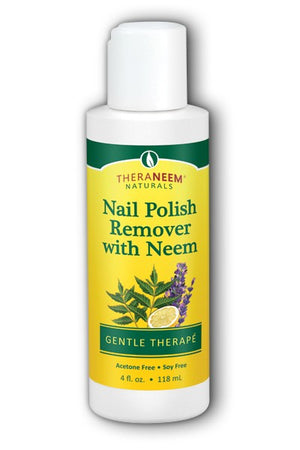 A bottle of Organic South Nail Polish Remover with Neem