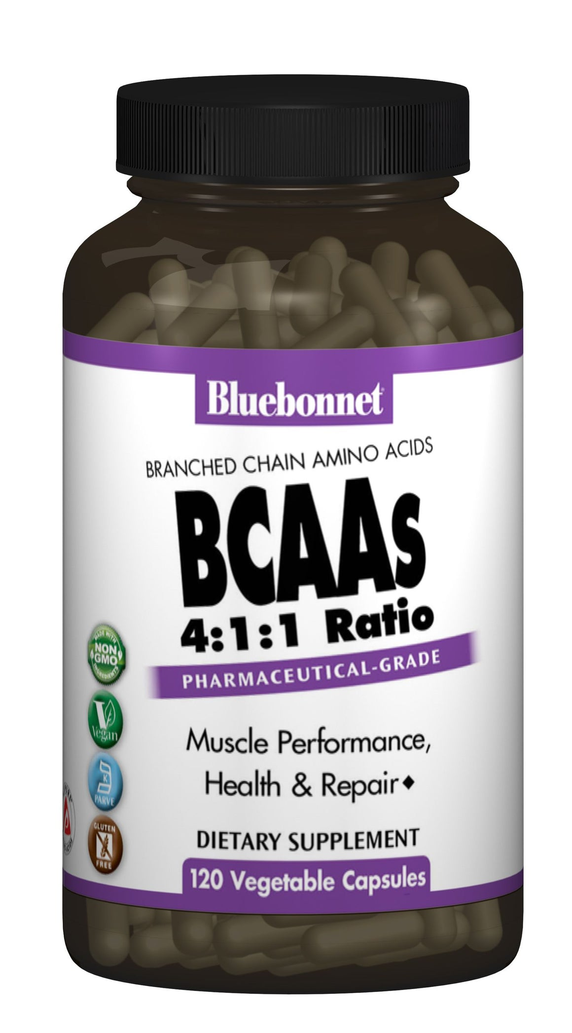 A bottle of Bluebonnet BCAAs