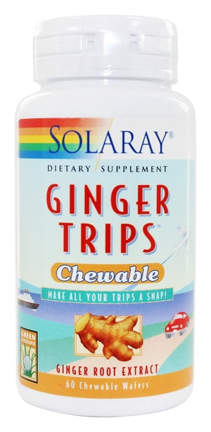 Ginger Trips Chewable - Solaray - 60 chewable wafers