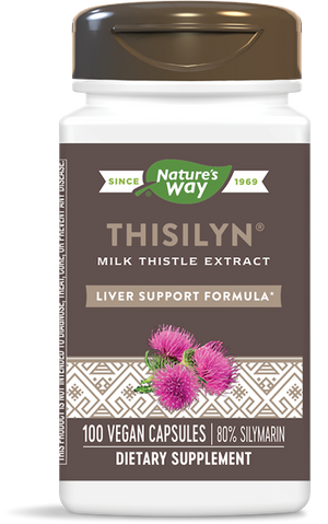 A bottle of Nature's Way Thisilyn® Standardized Milk Thistle Extract
