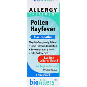 A package of bioAllers Pollen Hayfever 1 fl oz