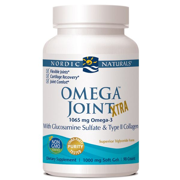 A bottle of Nordic Naturals Omega Joint Xtra