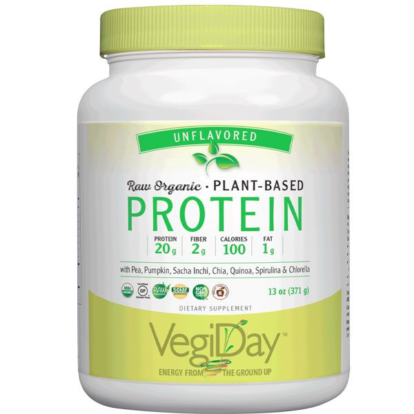 VegiDay™ Raw Organic Plant-Based Protein Unflavored