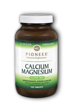 A bottle of Pioneer Calcium Magnesium