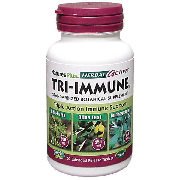 A bottle of Nature's Plus Tri-Immune Extended Release