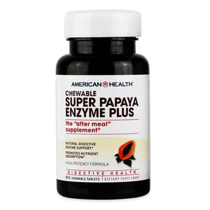 A bottle of American Health Super Papaya Enzyme Plus