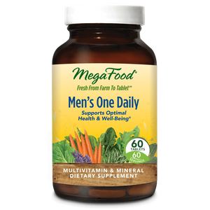A bottle of Megafood Men's One Daily