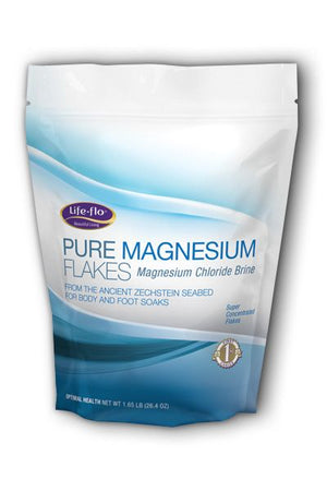 A package of Life-flo Pure Magnesium Flakes