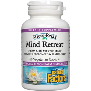 A bottle of Natural Factors Stress-Relax® Mind-Retreat
