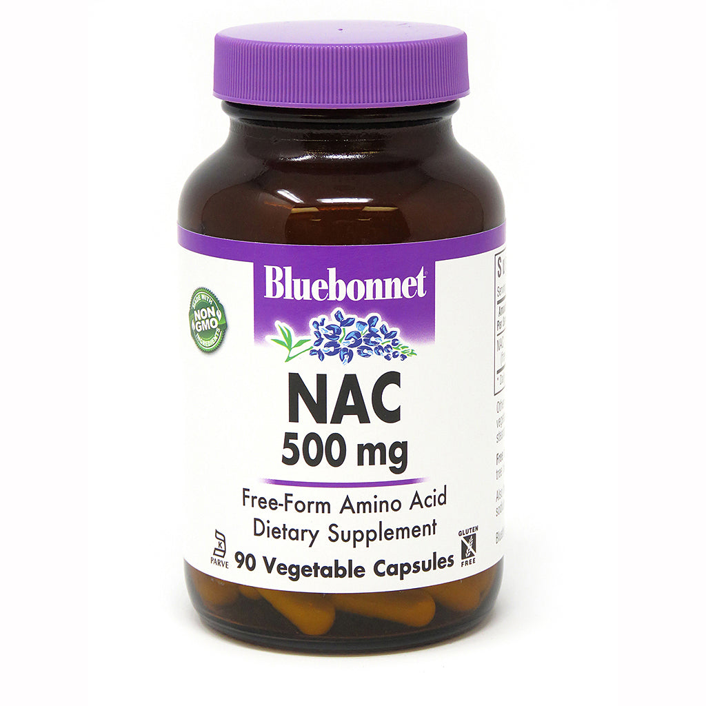 A bottle of Bluebonnet NAC 500 Mg