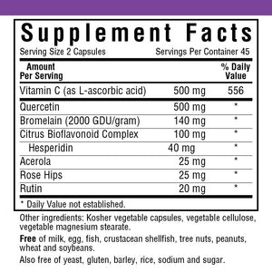 Supplement Facts for Bluebonnet Super Quercetin®