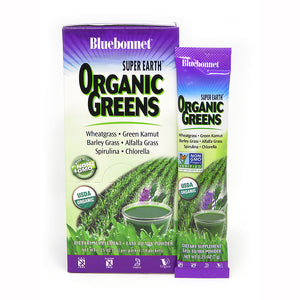 A package of Bluebonnet Super Earth® Organicgreens - single packet