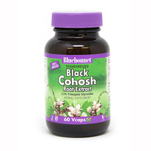 A bottle of Bluebonnet Black Cohosh Root Extract