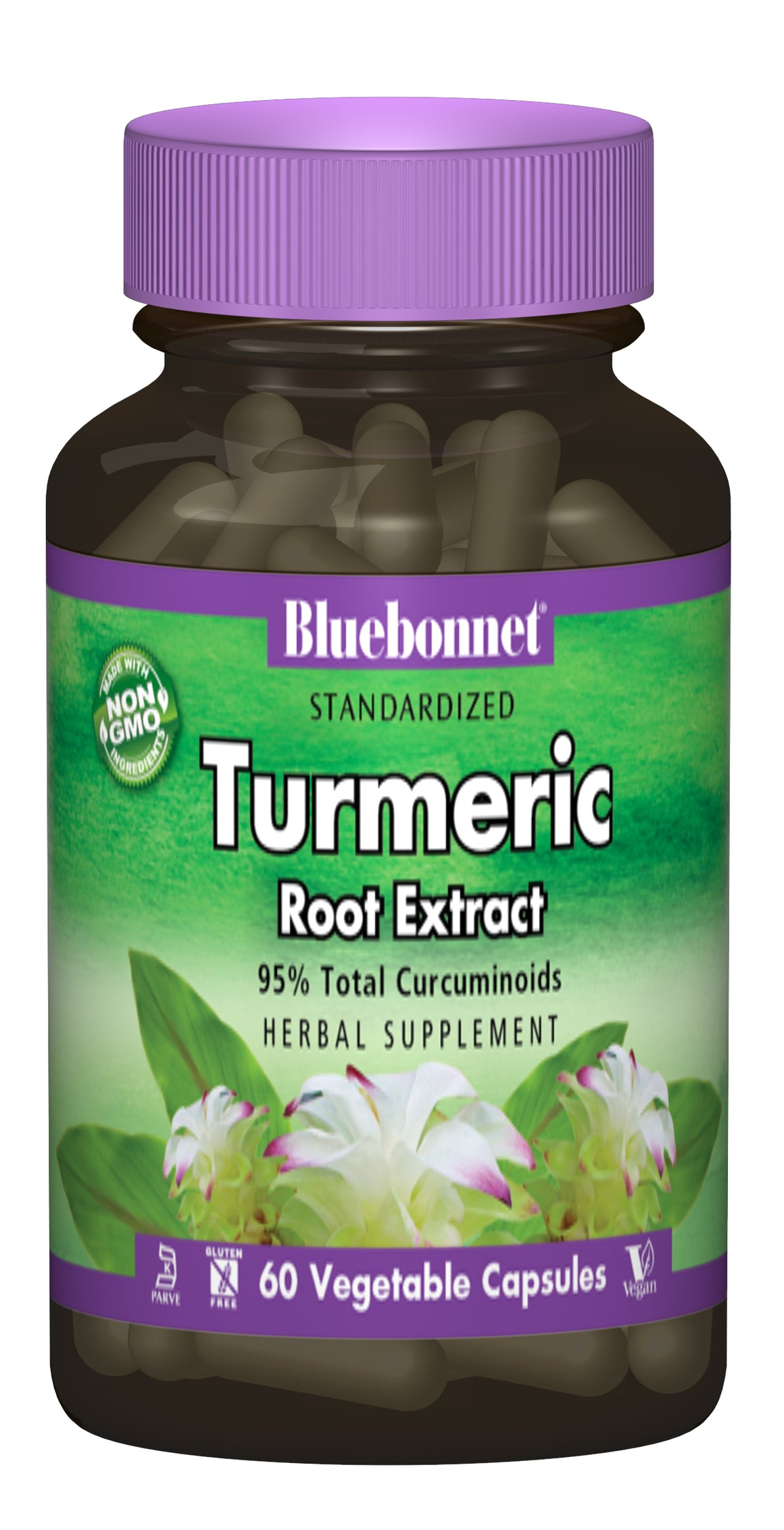 A bottle of Bluebonnet Turmeric Root Extract