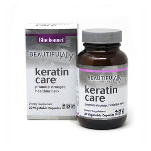 Package and bottle for Bluebonnet Beautiful Ally® Keratin Care™