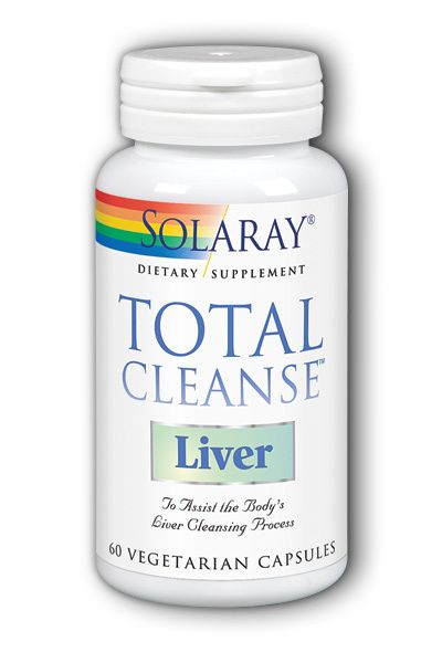 A bottle of Solaray Total Cleanse Liver